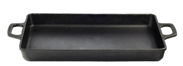 assadeira de ferro fundido retangular, travessa de ferro, tabuleiro para forno, bandeja santana 42x28