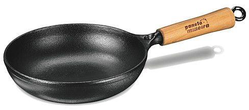 frigideira ferro fundido, panela mineira, 18 cm, antiaderente, bifeteira, grill, fumil