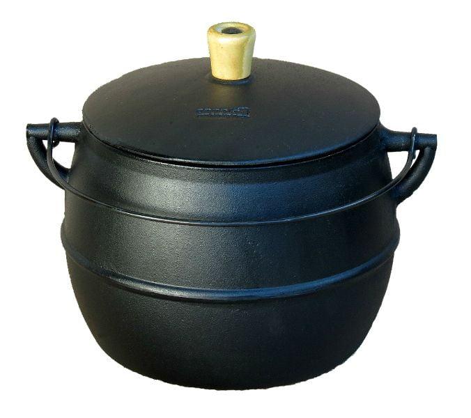 caldeirão de ferro bojudo 10 litros, cumbuca de ferro, panela de ferro, panela de feijoada de ferro