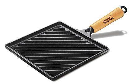 comprar bifeteira de ferro fundido, 22 cm, quadrada, grelha, chapa de ferro, panela mineira
