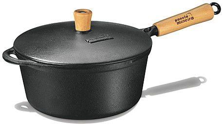 panela de ferro fundido, caçarola, cacarola, 3 litros, panela mineira,cabo