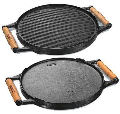 chapa ferro fundido, dupla face, 30 cm, grill, grelhar, bifeteira, bifeira, panela mineira