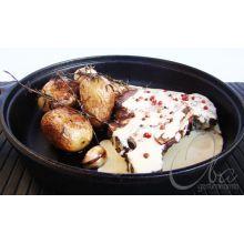 frigideira ferro fundido, panela mineira, 23 cm, antiaderente, bifeteira, chapa grill