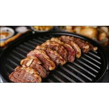 chapa de ferro fundido dupla face com alça de ferro, chapa para fogão, fundicao santana