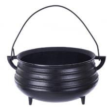 panela de ferro fundido, caldeirão de bruxa, panela wicca, 2 litro, panela de feijoada, panela tripé, caldeirão de ferro, santana, 18cm