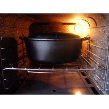 panela de ferro fundido, caçarola, cacarola, 4 litros, santana oval