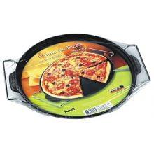 forma pizza ferro fundido, 30 cm, assadeira de pizza, forma de pedra, travessa para pizza com suporte