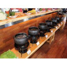 panela de ferro fundido, caldeirão de bruxa, buffet de feijoada, 16 l, panela wicca, panela tripé, caldeirão de ferro