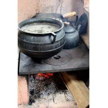 panela de ferro fundido grande, caldeirão de bruxa, 40 l, panela wicca, panela tripé, caldeirão de ferro