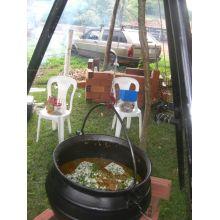 panela de ferro fundido grande, caldeirão de bruxa, 60 l, panela wicca, panela tripé, caldeirão de ferro