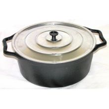 Caçarola Alça de ferro tampa de aluminio 11 litros 36 cm