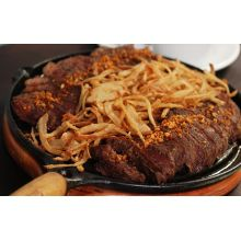 comprar chapa ferro fundido, oval, porcao, porção, chapa para petisco, travessa de ferro