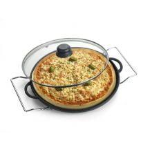 forma de pizza de ferro, pedra de pizza, assar pizza na pedra, pedra sabão, assadeira de pizza de ferro