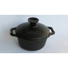 panela de ferro, caçarola de ferro 300 ml, com tampa panela miniatura