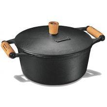 comprar panela de ferro fundido, caçarola, cacarola, 1,2 litros, panela mineira, fumil, alça madeira