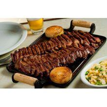 chapa ferro fundido, petisco, 28 cm, grill, bifeteira, bifeira, panela mineira