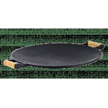 Chapa Disco Picanheira 45 cm diâmetro alça de madeira LIB