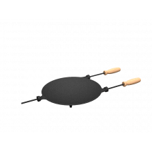 chapa disco ferro fundido, disco de arado, com cabos, panela mineira