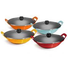 panela de ferro fundido laranja para risoto com tampa de vidro, risotto, paelleira de ferro, frigideira e assadeira 2,5 litros