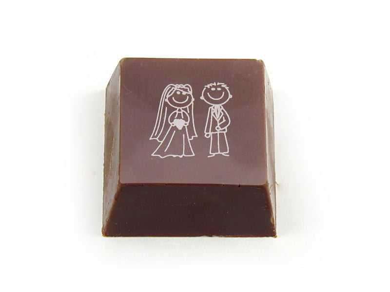 Transfer para Chocolate Noivos Mercantil Helvétia