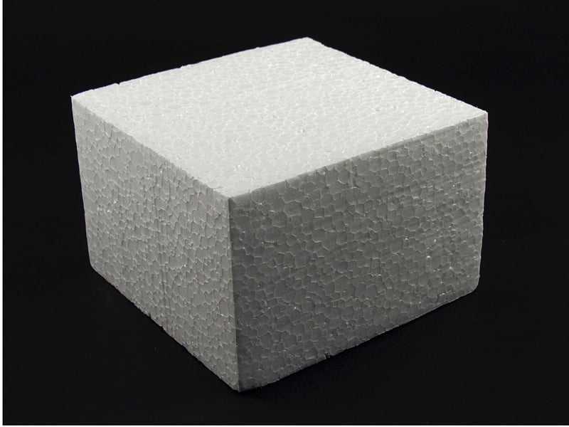 Isopor para Bolo Quadrado 15x15x10cm Isoporlândia
