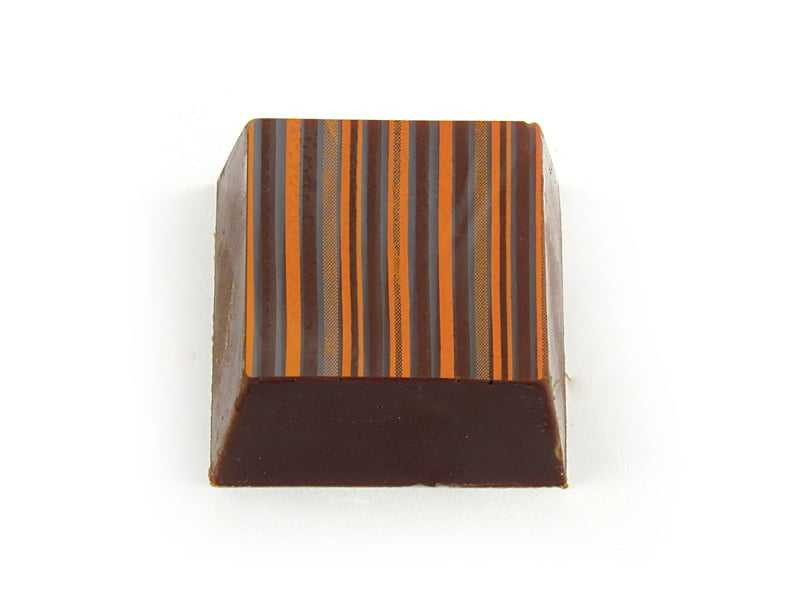 Transfer para Chocolate Listras 8034-07 Laranja/Marrom Mercantil Helvetia