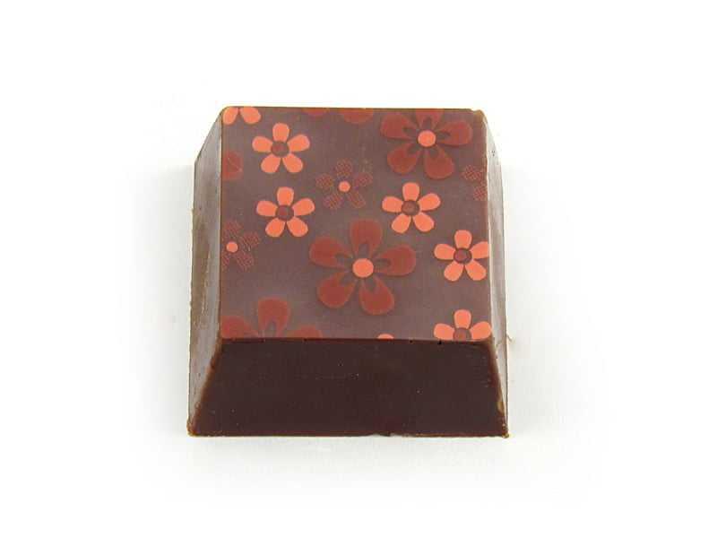 Transfer para Chocolate Flores Violeta c/ Rosa 8037-11  Mercantil Helvetia