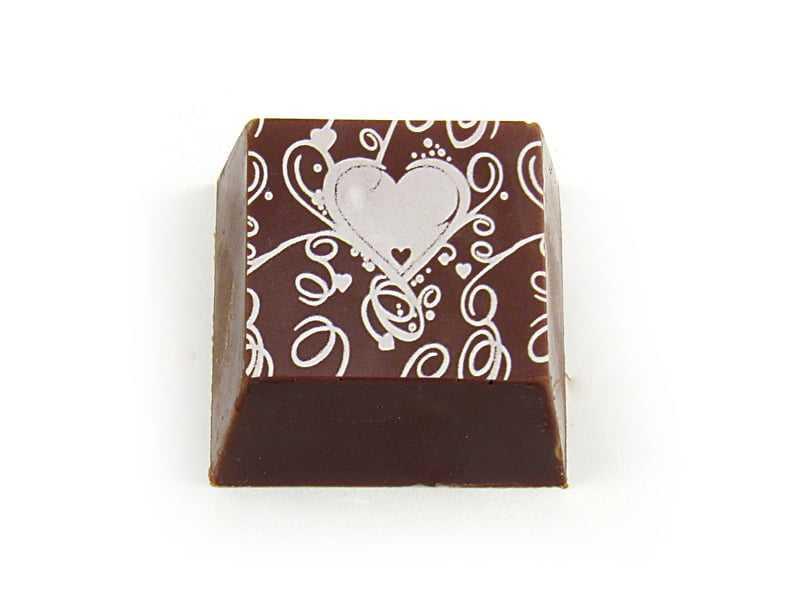 Transfer para Chocolate de Coração Branco Mercantil Helvétia