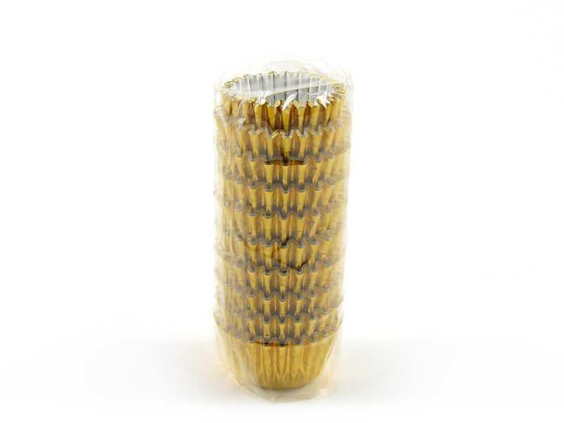 Forminha de Papel Laminado N4 Ouro c/100 Flopel