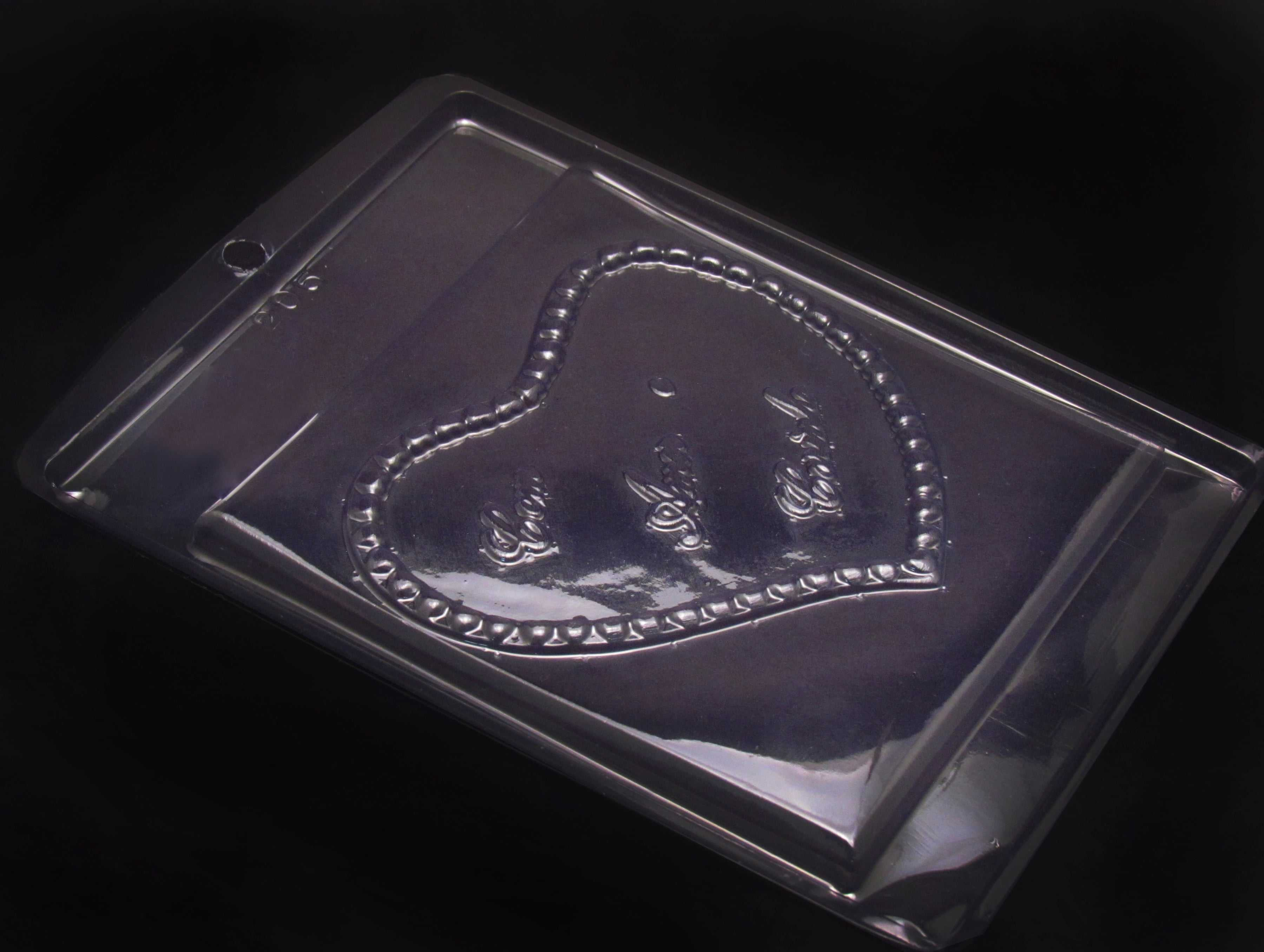 Forma de Acetato Placa com Amor e Carinho N205 Nishimoto