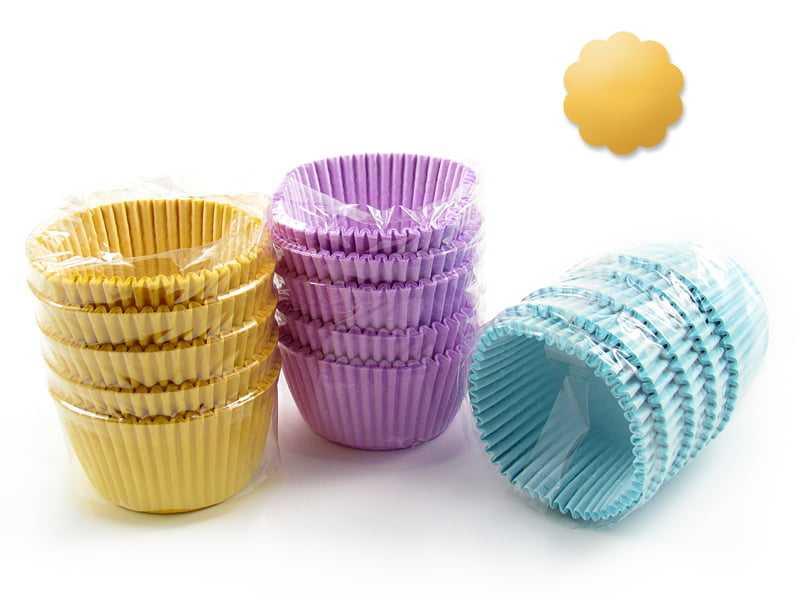 Forminha de Papel Impermeável para Cupcake Amarelo c/75 Flopel