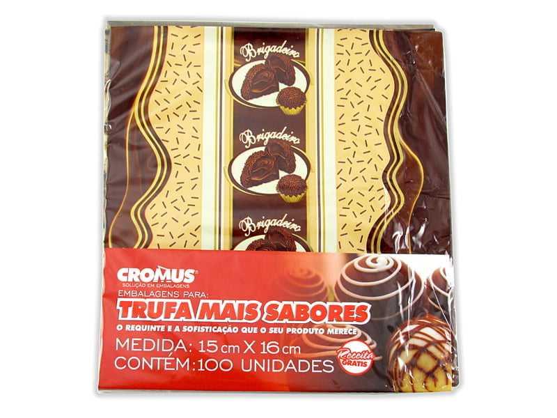 Papel para Trufa Delicia Brigadeiro 15x16 c/100 Cromus