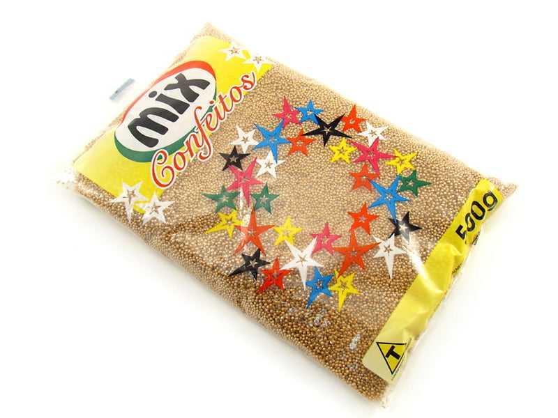 Confeito Dourado Nº 0 500gramas Mix
