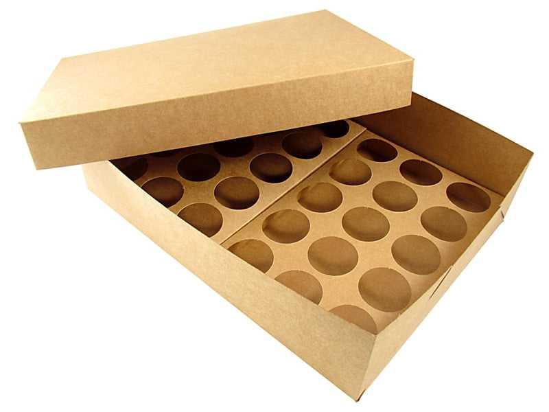 Caixa Krafft para Transporte de 30 Mini Cupcakes Agabox