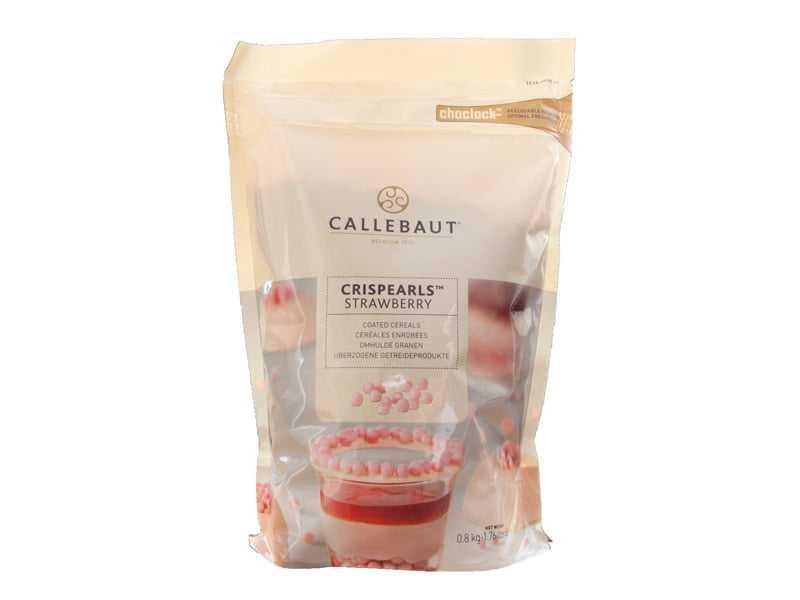 Crispearls Callebaut Cereais de Morango 800g