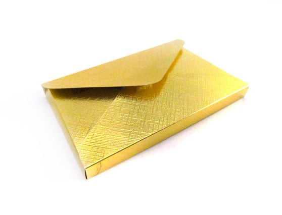 Caixa Metalizada Envelope 12x7,5 cm -  Csr