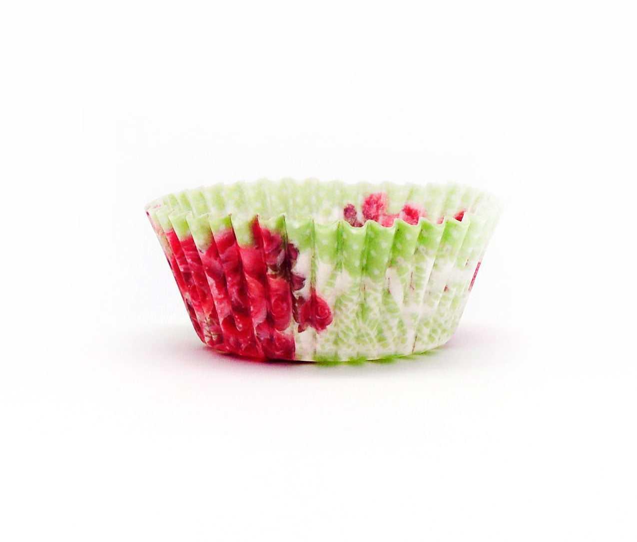 Forminha de Papel Floral Vermelho/Verde c/50 Decorvision