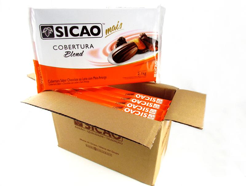 Cobertura Sicao Chocolate Blend 5x2,1kg