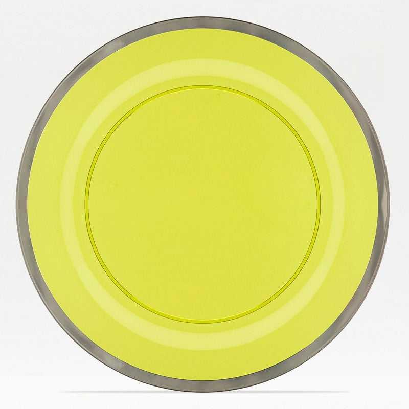 Prato de Plástico Redondo Olive 26cm c/6 Decorvision