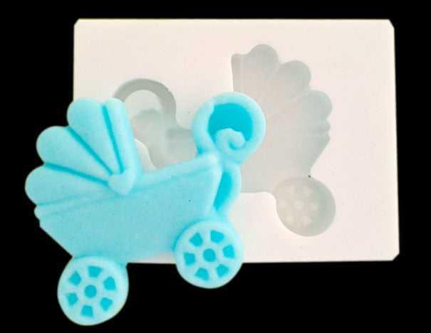 Molde de Silicone Carrinho de Bebê - MZL