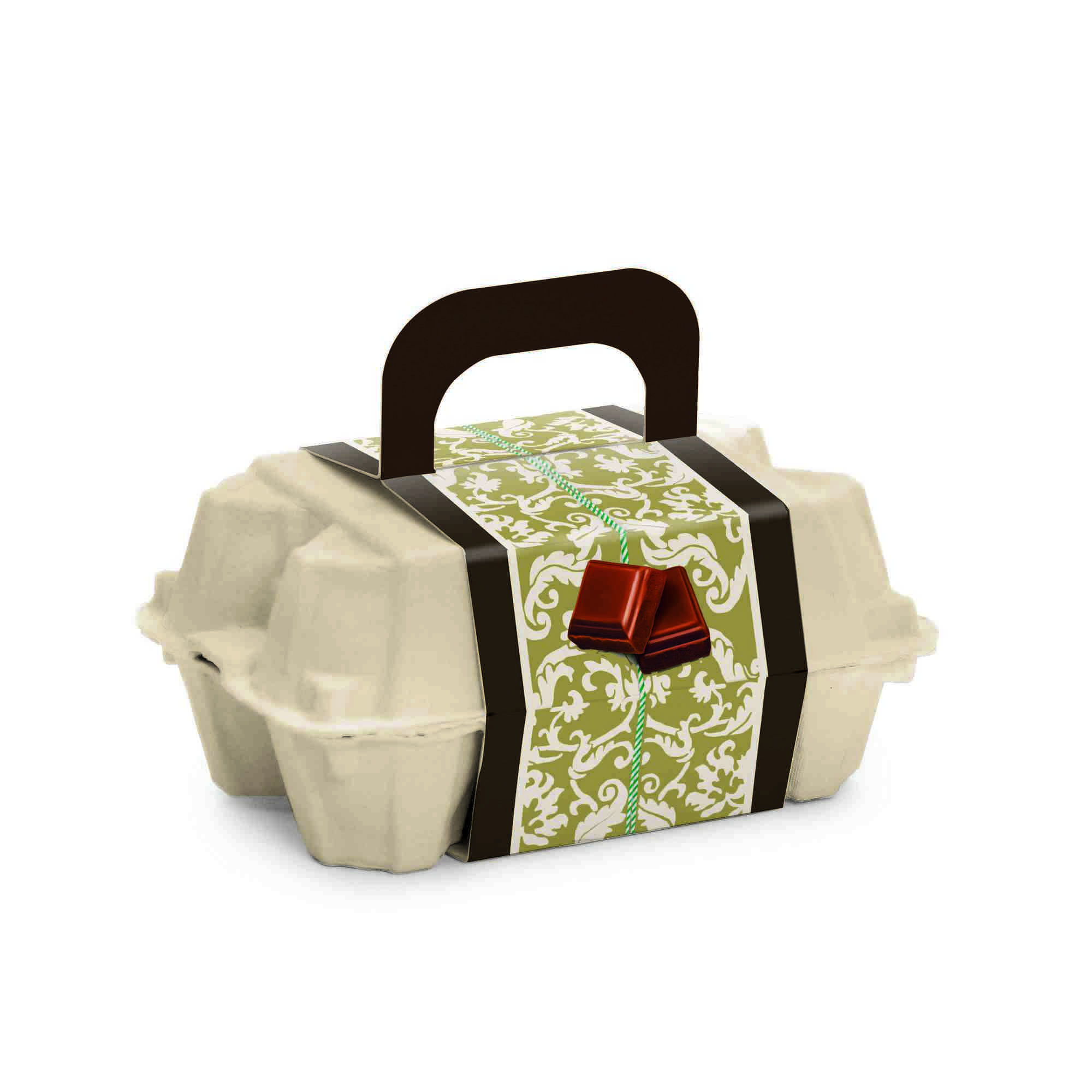Caixa para Ovos com Cinta Essência  15X10X6 cm Cromus