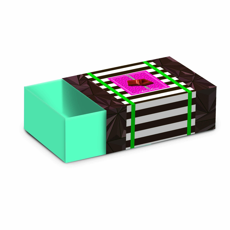 Caixa para Bombons com Luva Pausa  9X6X3cm c/8 Cromus