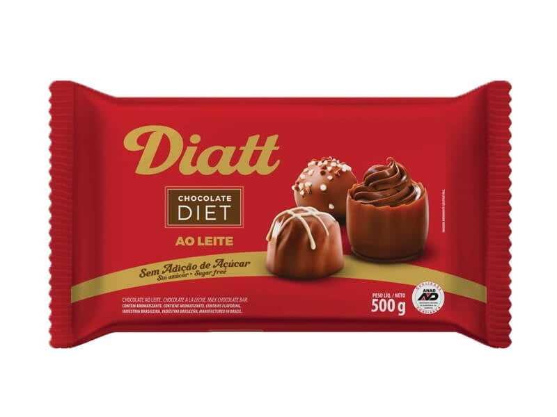 Chocolate Diatt Diet ao Leite 500g
