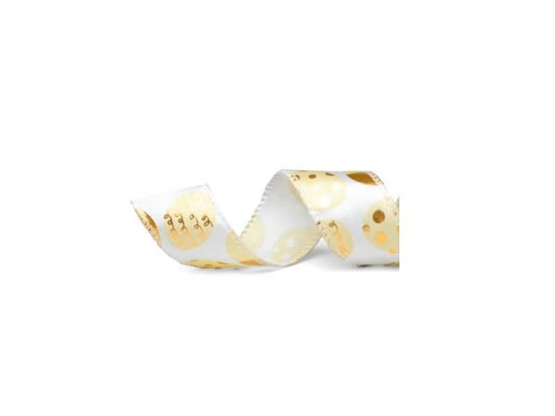 Fita de Cetim Marfim com Ouro 9,14m Cromus