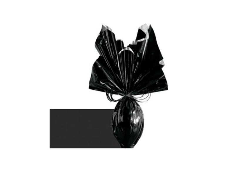 Papel Metalizado para Ovo de Páscoa 69x89 cm c/5 Preto - Cromus