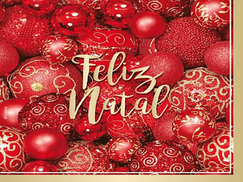 Guardanapo de Natal Bolas Natalinas 25x25 cm c/20 - Cromus
