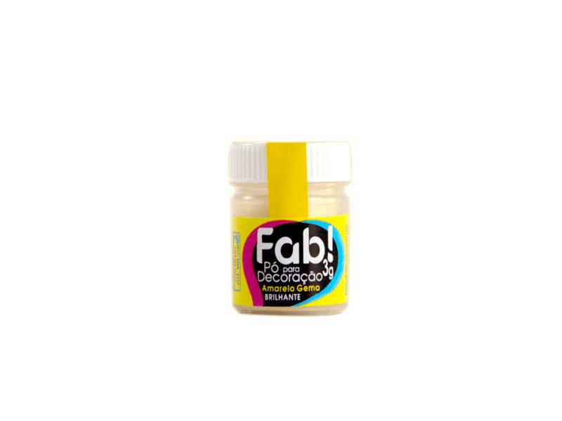 Pó para Decoração Amarelo Gema 3g – Fab