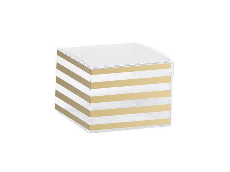 Caixa de Acetato para 1 Doce Listras Ouro c/10 – Cromus
