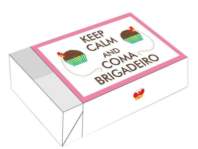 Caixa para 6 doces - Keep Calm
