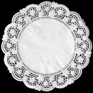 Forro de Papel Rendado Redondo Branco 380 c/6 Mago